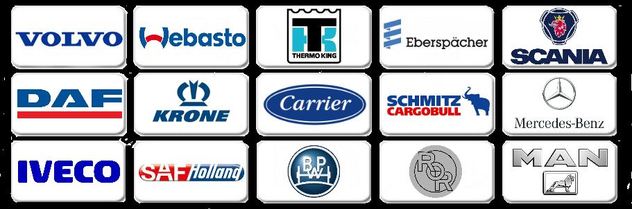 Запчасти для европейских грузовых автомобилей, автономных отпителей и холодильных установок.